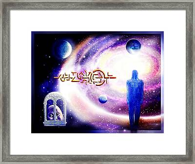 Enigmatic   Message Framed Print