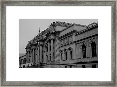 The Metropolitan Museum Of Art Framed Print by Christopher Kirby