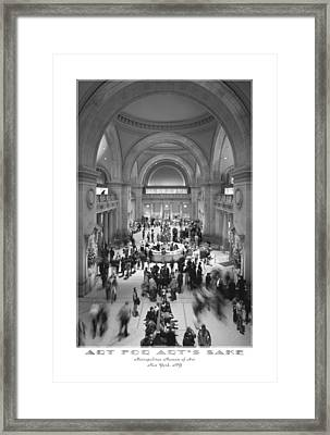 The Metropolitan Museum Of Art Framed Print by Mike McGlothlen
