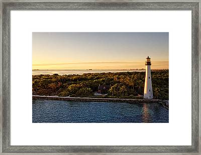 Framed Print featuring the photograph The Miami Lighthouse by Lars Lentz
