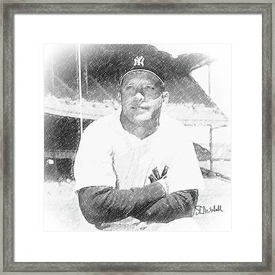 Mickey Mantle Framed Print