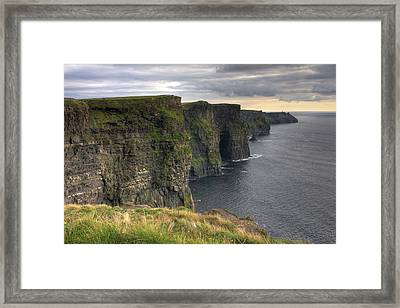 The Mighty Cliffs Of Moher In Ireland Framed Print