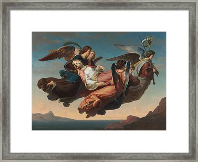 The Miraculous Translation Of The Body Of Saint Catherine Of Alexandria To Sinai Framed Print
