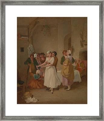 The Mistletoe Bough Framed Print