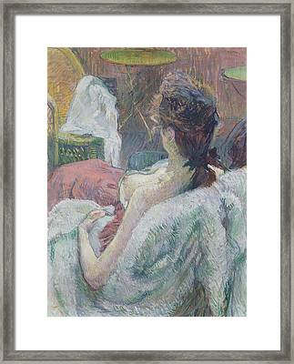 The Model Resting Framed Print