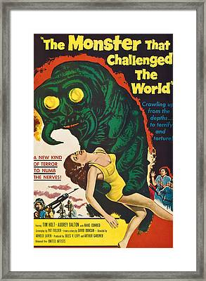 The Monster That Challenged The World Framed Print