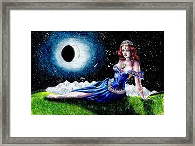 The Moon Witch Framed Print by Scarlett Royal