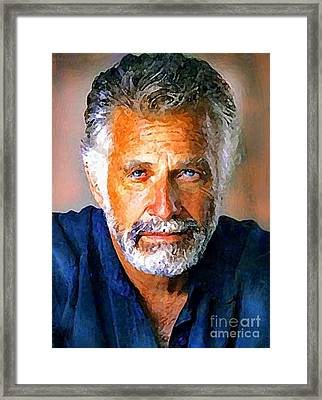 The Most Interesting Man In The World Framed Print by Debora Cardaci