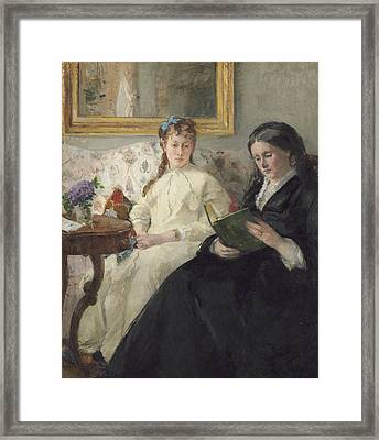 The Mother And Sister Of The Artist Framed Print by Berthe Morisot