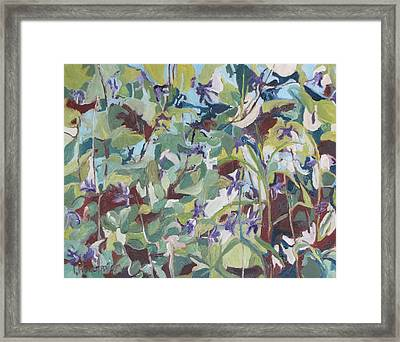 The Mount Of Columbines Framed Print
