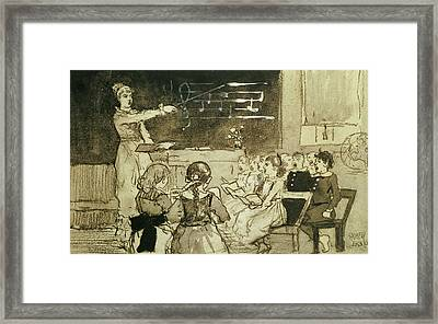 The Music Lesson Framed Print by Winslow Homer