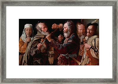 The Musicians' Brawl Framed Print