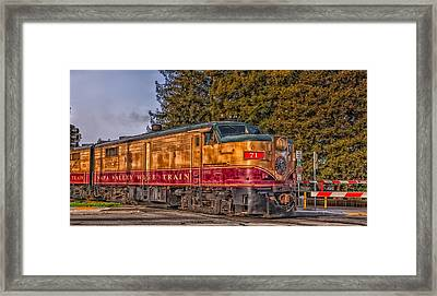 The Napa Valley Wine Train Framed Print