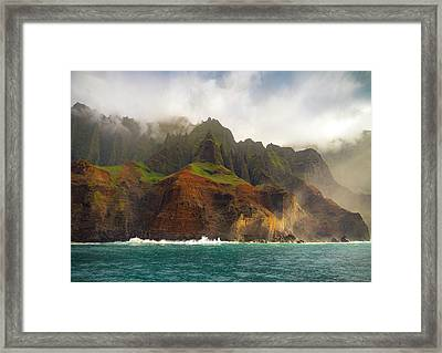 The Napali Coast Framed Print by Peter Irwindale