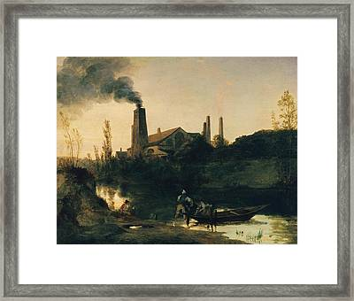 The Neustadt-eberswalde Rolling Mill Framed Print by Carl Blechen