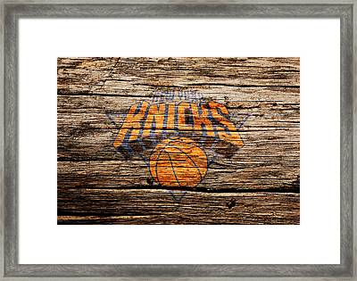 The New York Knicks 1b Framed Print by Brian Reaves