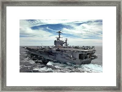 The Nimitz-class Aircraft Carrier Uss Framed Print