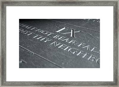 The Ninth Commandment Framed Print by Allan Swart