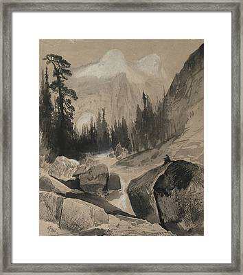 The North Dome Yosemite California Framed Print by Thomas Moran