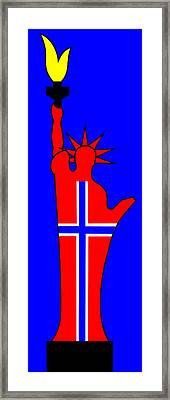 The Norwegian Statue Of Liberty Framed Print by Asbjorn Lonvig