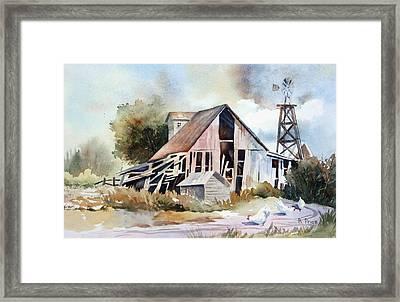 The Old Barn Framed Print by Bobbi Price