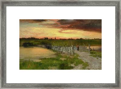 The Old Bridge Over Hook Pond, East Hampton, Long Island Framed Print