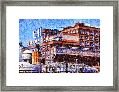 The Old C And H Pure Cane Sugar Plant In Crockett California . 5d16769 Framed Print by Wingsdomain Art and Photography