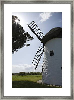 Framed Print featuring the photograph The Old Irish Windmill by Ian Middleton