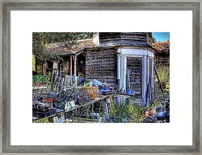 The Old Shed Framed Print by David Patterson
