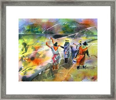 The Painters Framed Print by Joyce Ann Burton-Sousa