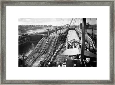 The Panama Canal, Steps Framed Print