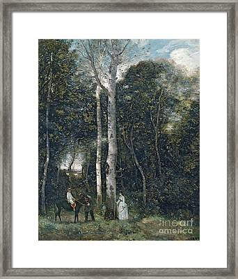 The Parc Des Lions At Port-marly Framed Print by Jean Baptiste Camille Corot