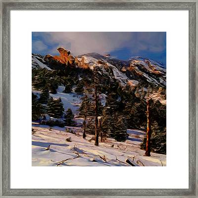 The Pass Framed Print by Wayne Bonney