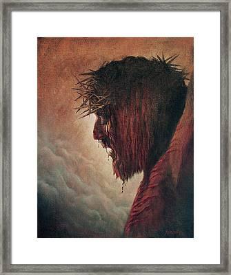 The Passion Framed Print by Artist Karen Barton