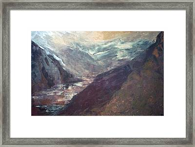 The Path Of Lesser Resistence Framed Print by Peta Mccabe