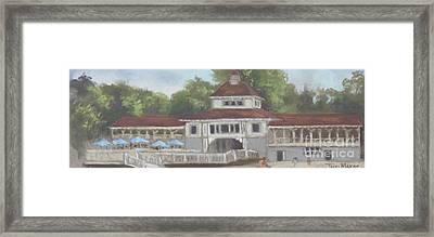 The Pavilion At Lakeside Ohio Framed Print by Terri  Meyer