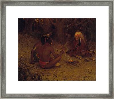 The Peace Pipe Framed Print