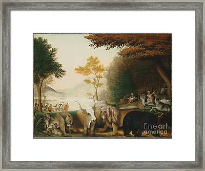 The Peaceable Kingdom  Framed Print by Celestial Images