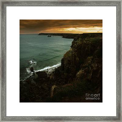 The Pembrokeshire Cliffs Framed Print by Angel Ciesniarska