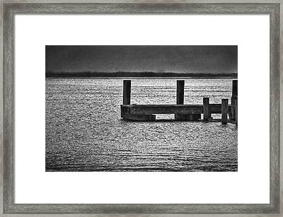 The Pier Framed Print by Dave Bosse