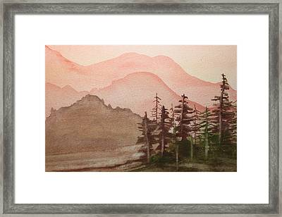 The Pine Trees Framed Print