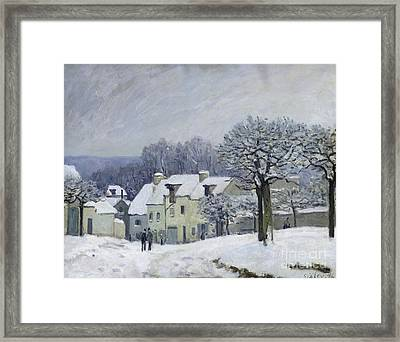 The Place Du Chenil At Marly Le Roi Framed Print