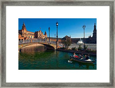 The Plaza De Espana, In Maria Luisa Framed Print by Panoramic Images