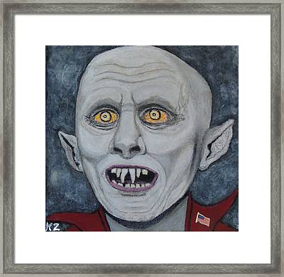 The Politician. Framed Print by Ken Zabel