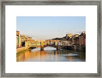 The Ponte Vecchio In Florence Framed Print by Dutourdumonde Photography