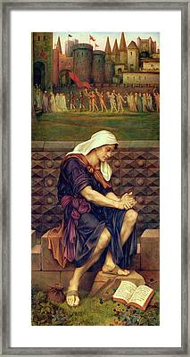 The Poor Man Who Saved The City Framed Print