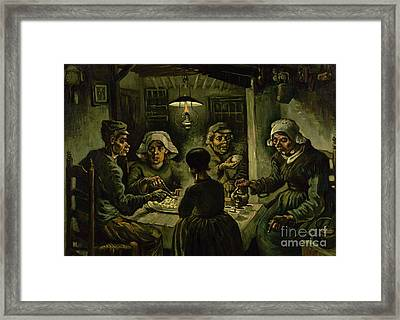 The Potato Eaters, 1885 Framed Print by Vincent Van Gogh