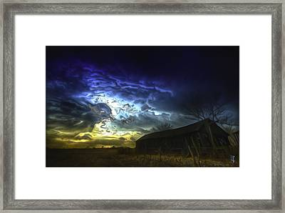 The Power Of A Storm In Formation Framed Print by  Fli Art