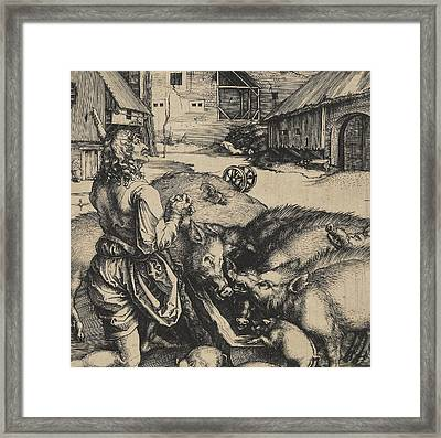 The Prodigal Son Framed Print by Albrecht Durer or Duerer