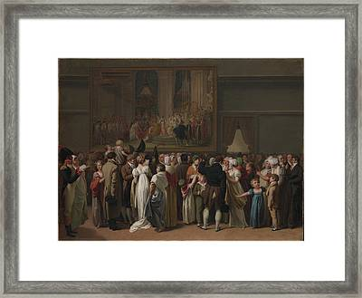 The Public Viewing David Framed Print